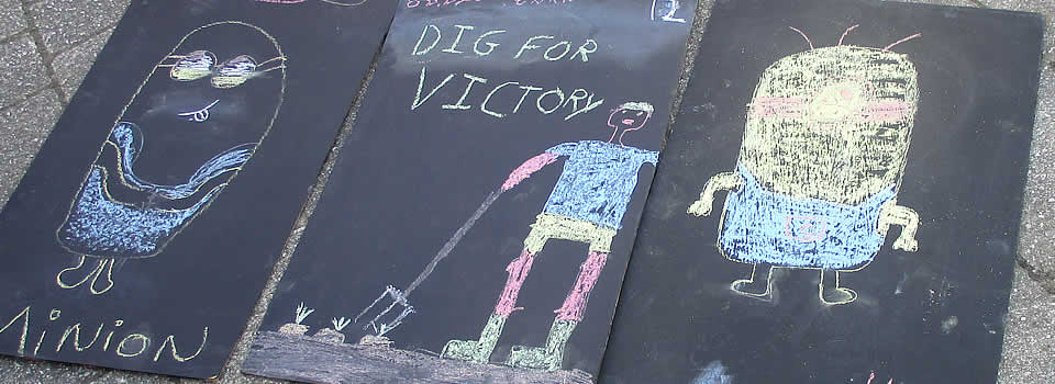 Pavement Art at the Liskeard Carnival